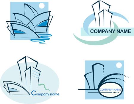 �ollection of real estate logos Stock Vector - 6636478