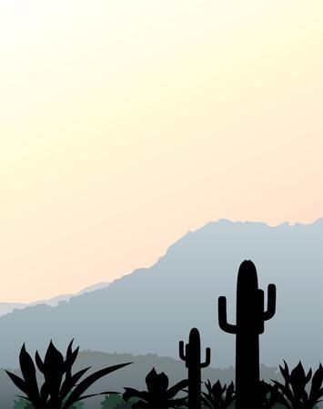 Mexican landscape Vektorové ilustrace