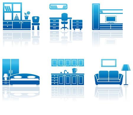 Furniture icon set Stock Vector - 6667435