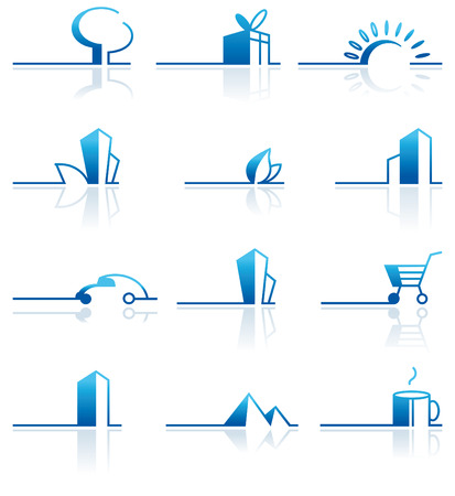 reflexion: Collection of design elements Illustration