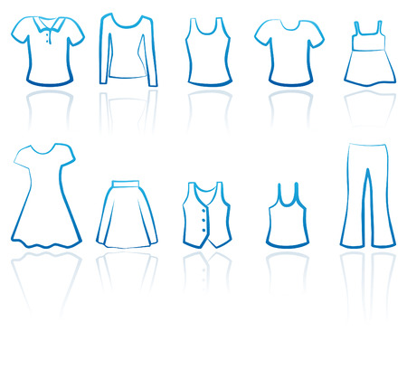 Clothes female icons Stock Vector - 6711570