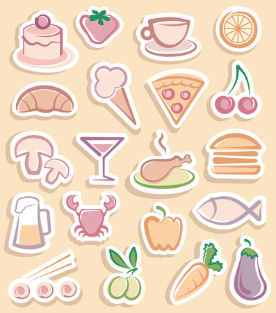 croissant: Food stickers