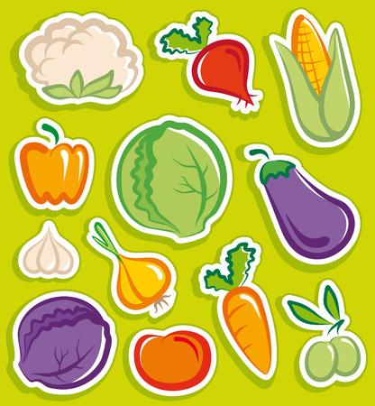 cauliflower: Vegetables stickers