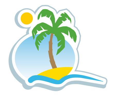 bahamas: Tropical symbol Illustration