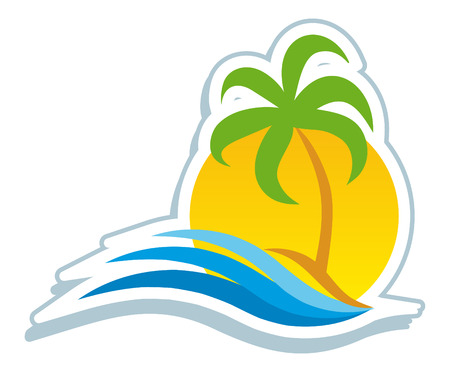 tree logo: Tropical symbo