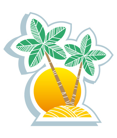 Tropical symbol Vector