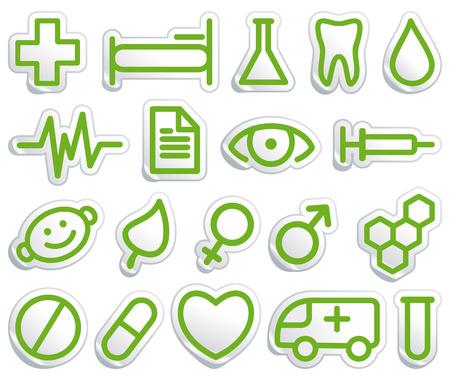 spital ger�te: Medizinische Symbole  Illustration