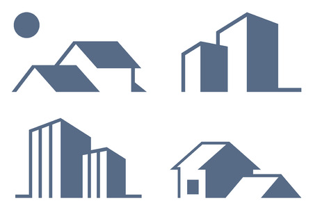 Simple symbols of real estate Stock Vector - 7164034