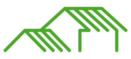 small roof: Real estate symbols Illustration