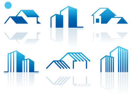 Simple symbols of real estate Stock Vector - 7503121