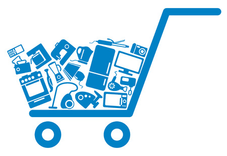 retail equipment: The cart with home appliances