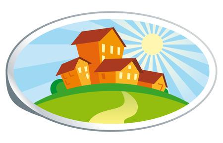 Real estate illustration Stock Vector - 7503118
