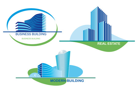 building real estate modern: Urban icons