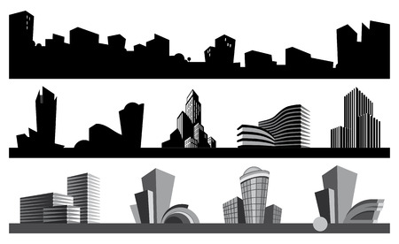 City skyline and urban icons Vector
