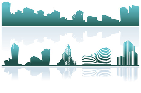 building exterior: City skyline Illustration