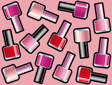 Seamless background with nail polishes Stock Vector - 7876567