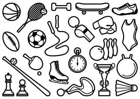 sport club: Sports symbols Illustration