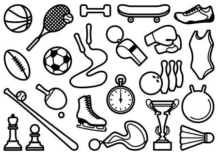 timer icon: Sports symbols Illustration