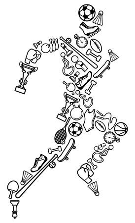 Símbolo de deportes  Ilustración de vector