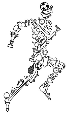 Sport symbool Vector Illustratie