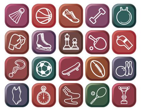 actividades recreativas: Botones de deportes