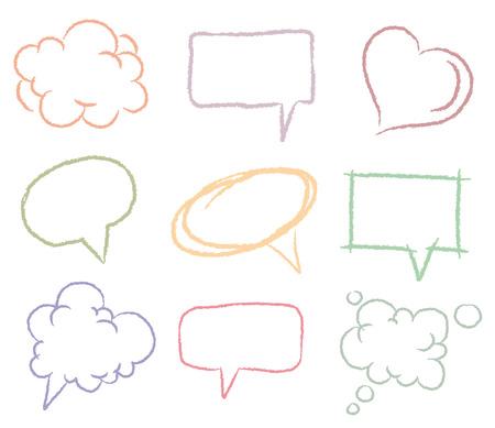 text bubble: Doodle sketch speech bubbles