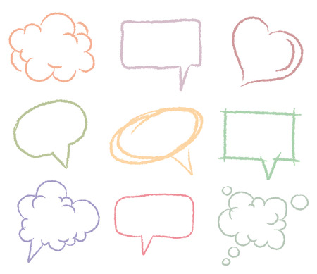 Doodle sketch speech bubbles Stock Vector - 8200285
