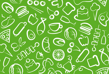 Seamless background of food Stock Vector - 8296489