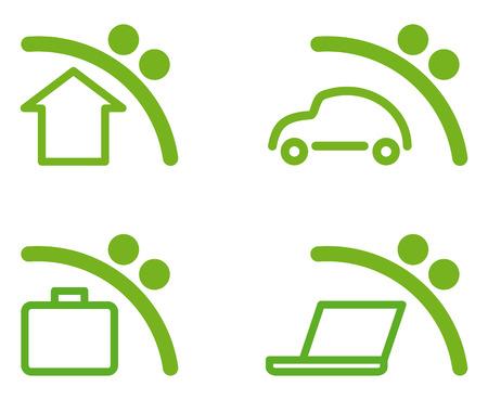 Symboles d'épargne Vecteurs