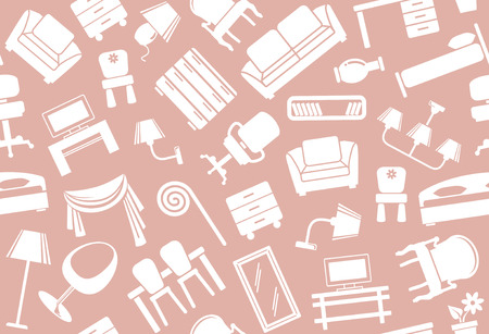 sofa set: Seamless furniture background