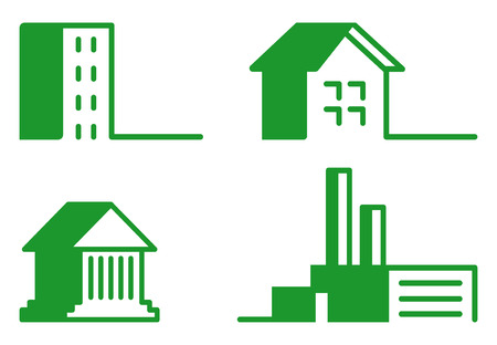 residential district: Buildings - Icon Set