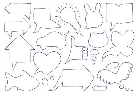 Doodle sketch speech bubbles Stock Vector - 8296488
