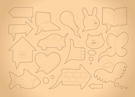 Doodle sketch speech bubbles Stock Vector - 8388001