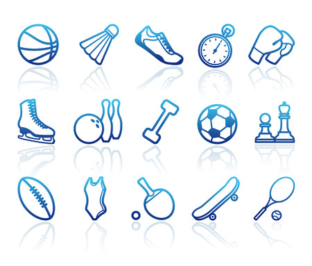badminton: Sports symbols Illustration