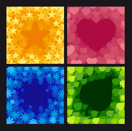 b days: Four abstract backgrounds