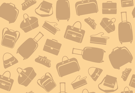 Background from bags and suitcases Vector