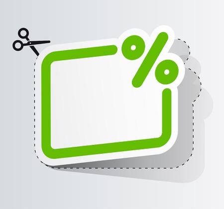 De coupon van de korting Vector Illustratie