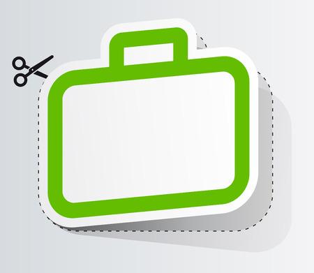 Label in vorm van koffer
