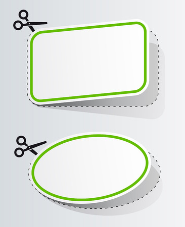 Advertising coupon cut from sheet of paper Vector