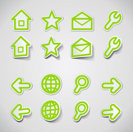 Internet icons Stock Vector - 8772653