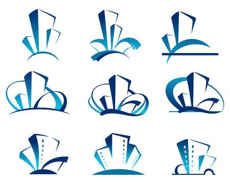 logo batiment: Immobilier ic�nes