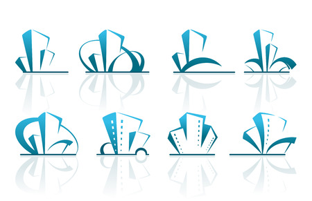 Real estate icons Stock Vector - 8873870
