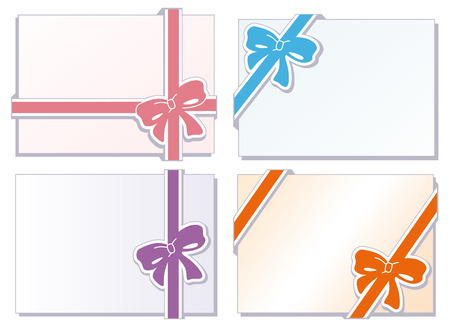 anniversary card: Collection of  bows with greeting cards