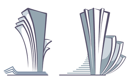 Abstract architectural compositions of skyscrapers Stock Vector - 9099425