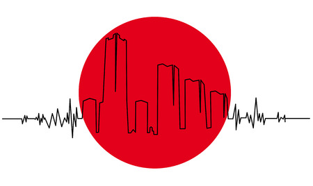 seismic: Symbol of the Japanese earthquake Illustration