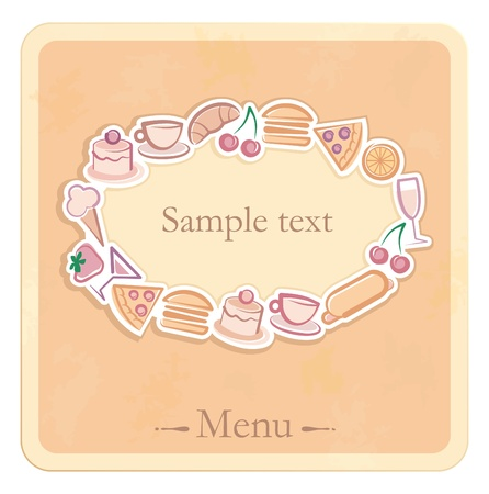 The sample of the menu for cafe Vector
