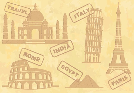 famous places: Travel background