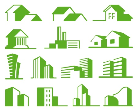 types: Real estate symbols Illustration