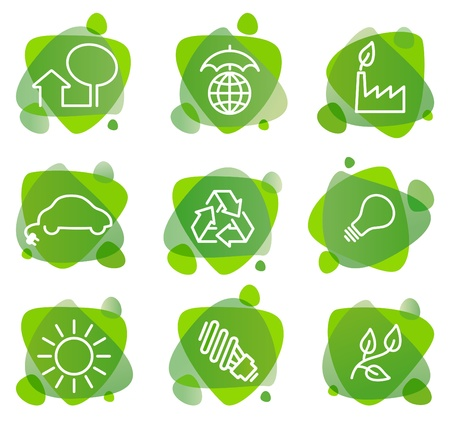 Environment protection icons Stock Vector - 9658714
