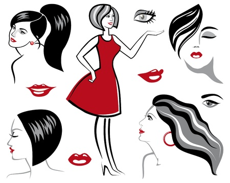 Sketches of women Stock Vector - 9929590